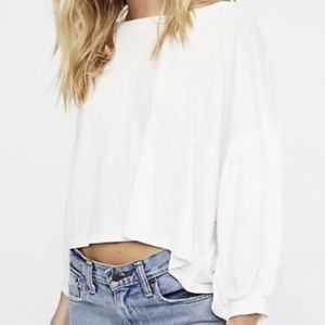 Free People We The Free Sugar Rush Ivory Tee Top
